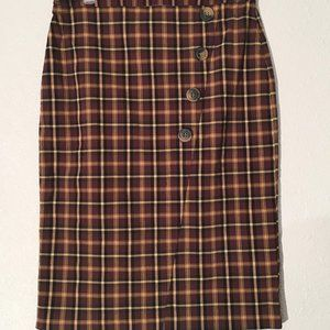 Soho Apparel LTD. Plaid Pencil Skirt Size Small